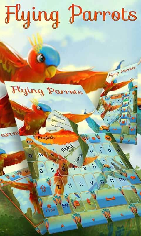 Flying Parrot Keyboard Theme 1.65.20.1 Screen 1