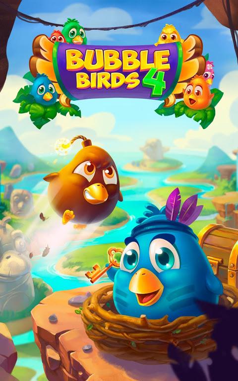 Bubble Birds 4 - Rescue Falling Funny Birds 2.4.1 Screen 4