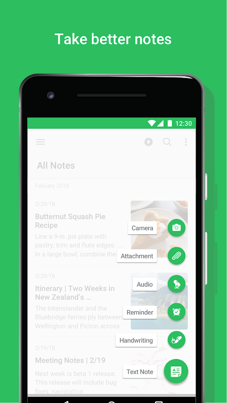 Android Evernote - stay organized. Screen 1