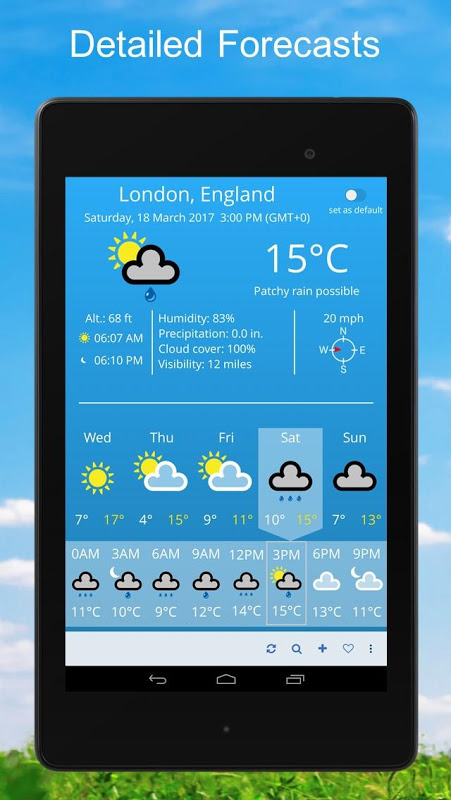 Android Weather 2 weeks Screen 4