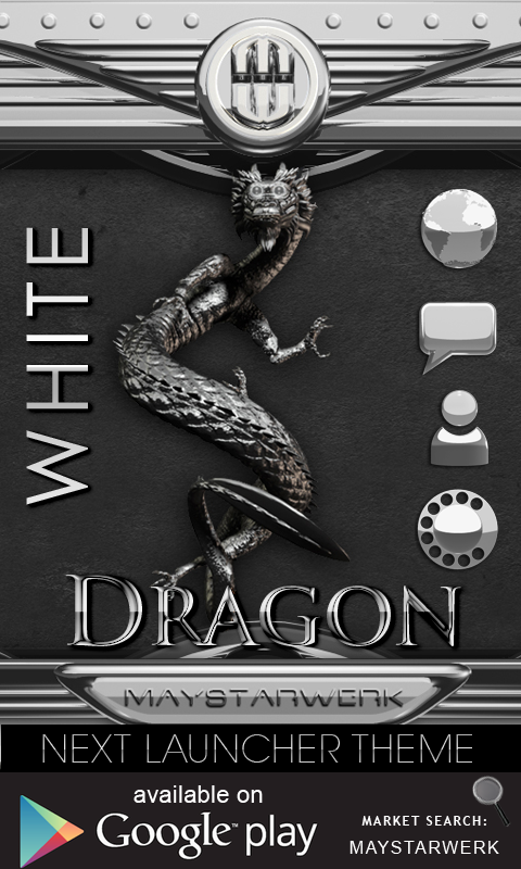 Android Dragon Clock Widget white Screen 4