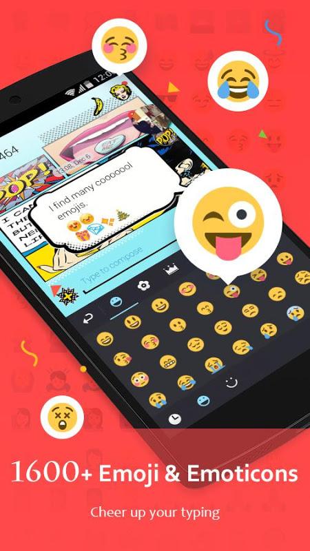 Android GO Keyboard - Emoji, Sticker Screen 1