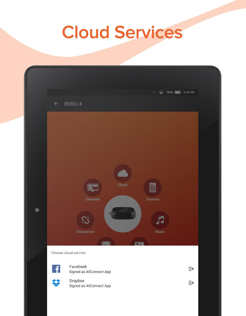 Android AllConnect - Play & Stream Screen 13