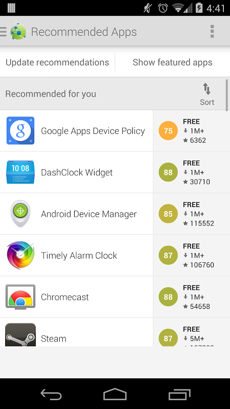 Android AppBrain App Store Screen 7
