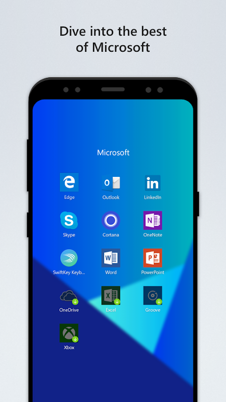 Android Microsoft Launcher Screen 1