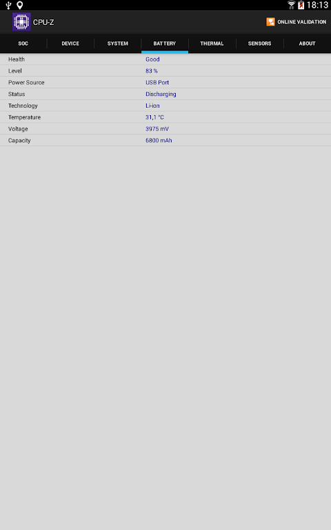 CPU-Z 1.32 Screen 10