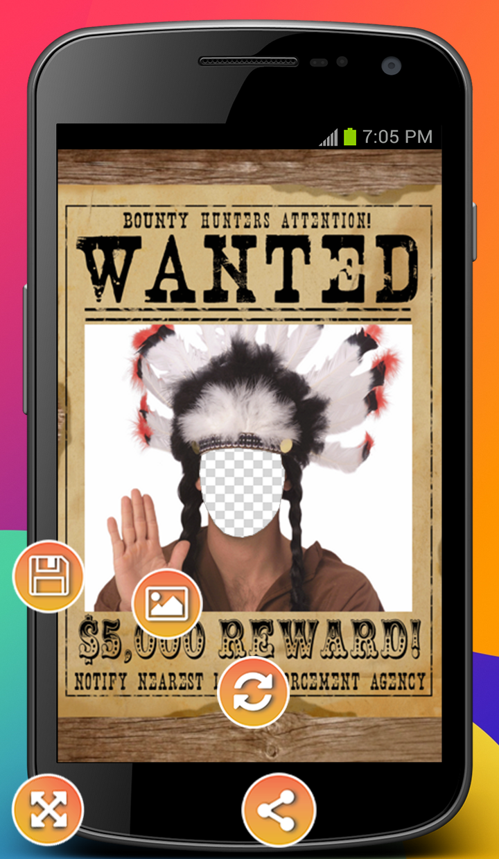 Android Most Wanted Photo Montage Screen 1