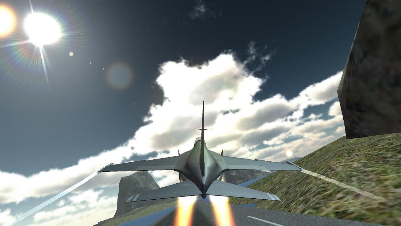 Android F18 Airplane Pilot Simulator Screen 5