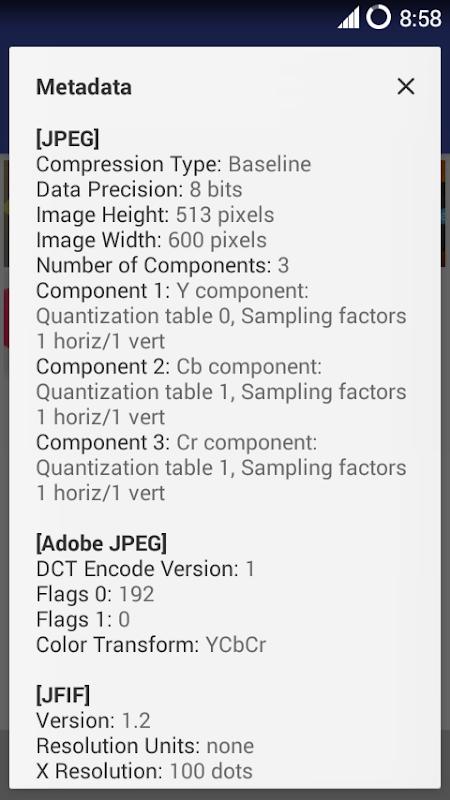 MiX Metadata 1.5 Screen 1