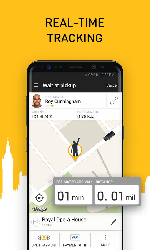 Android Gett - The Best Black Cabs Screen 4