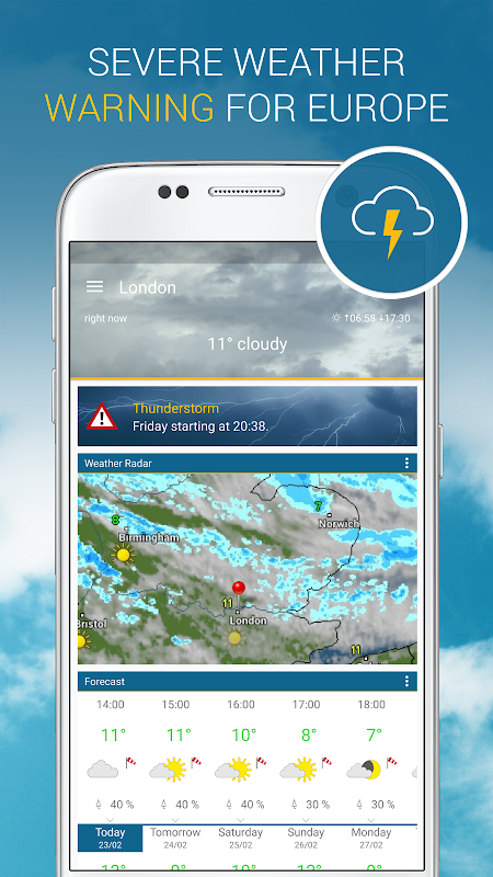 Weather & Radar UK 4.41.2 Screen 3