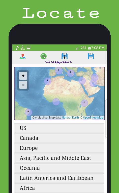Android Craigslist for Android® Screen 2