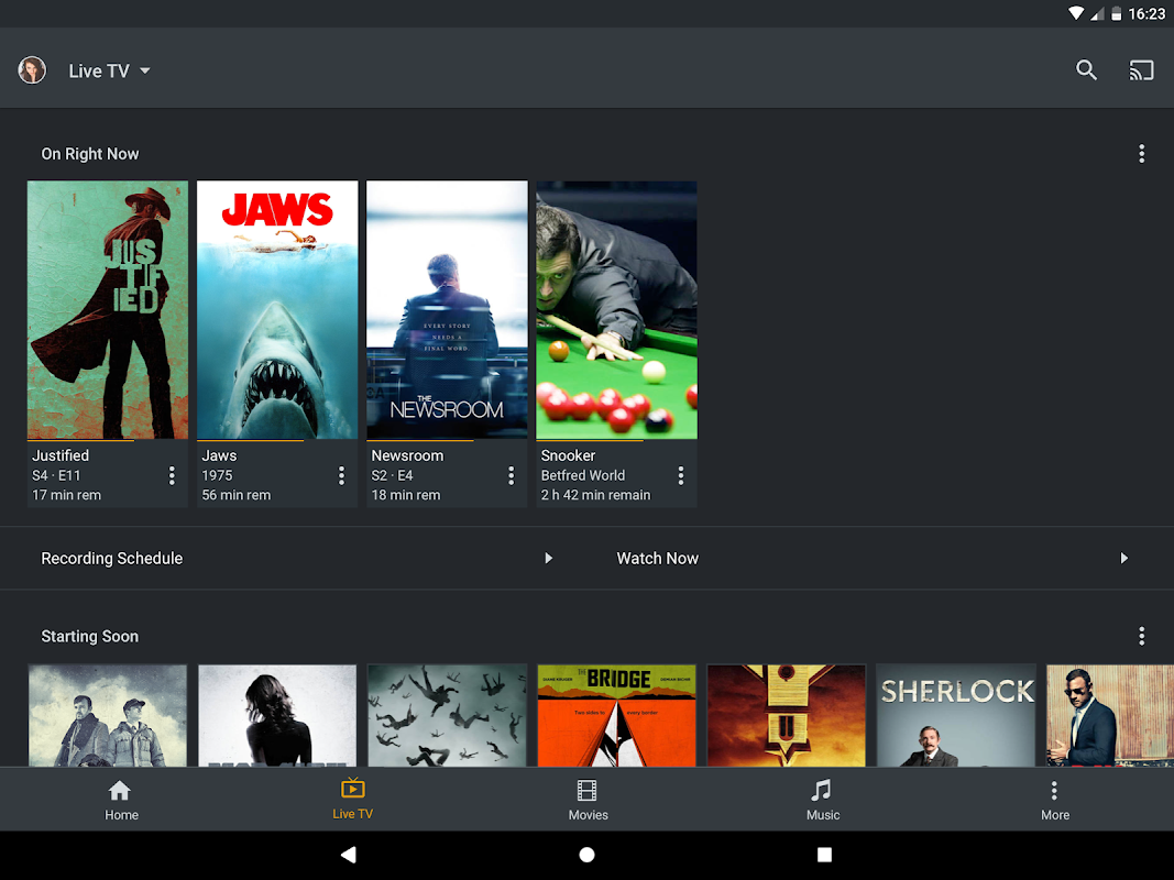 Android Plex Screen 11