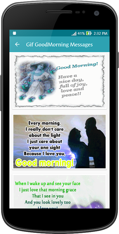 Android Gif Good Morning Messages Collection Screen 4