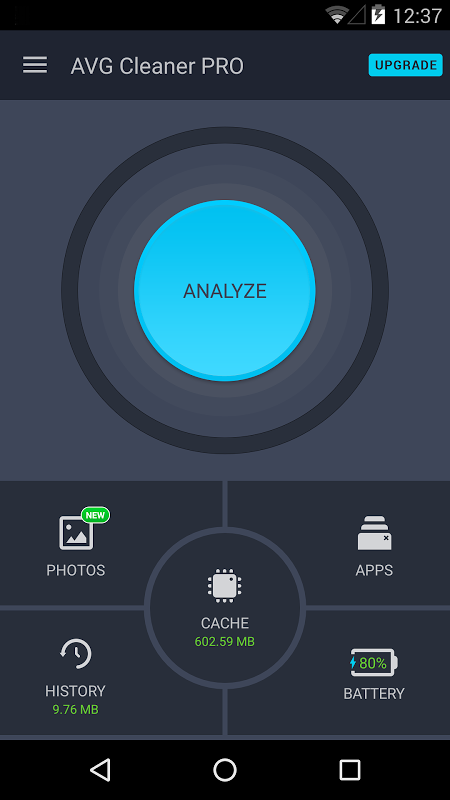 Android AVG Cleaner Screen 3