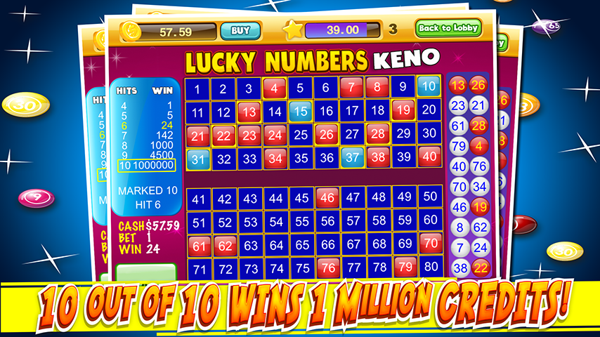 Android Las Vegas Keno Numbers Free Screen 3