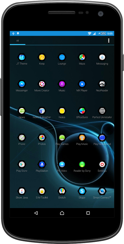 Black Crystal Theme & Launcher 1.0 Screen 2