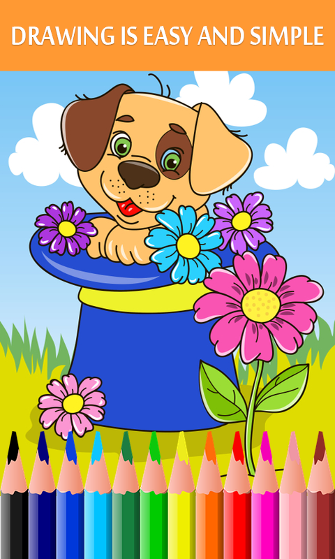 Android Animated Kids Coloring Book Screen 1