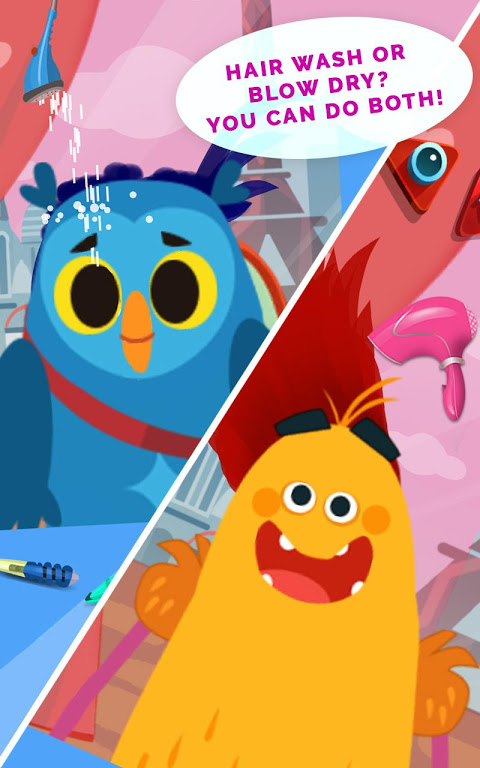 Android Kids Hair Salon Saga – KinToons Screen 1
