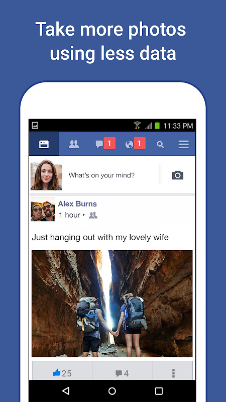 Facebook Lite 151.0.0.4.121 Screen 1