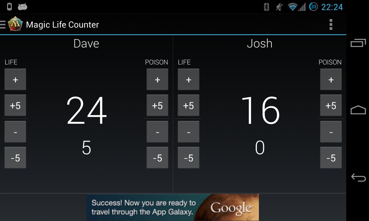 Android Magic Life Counter Screen 4