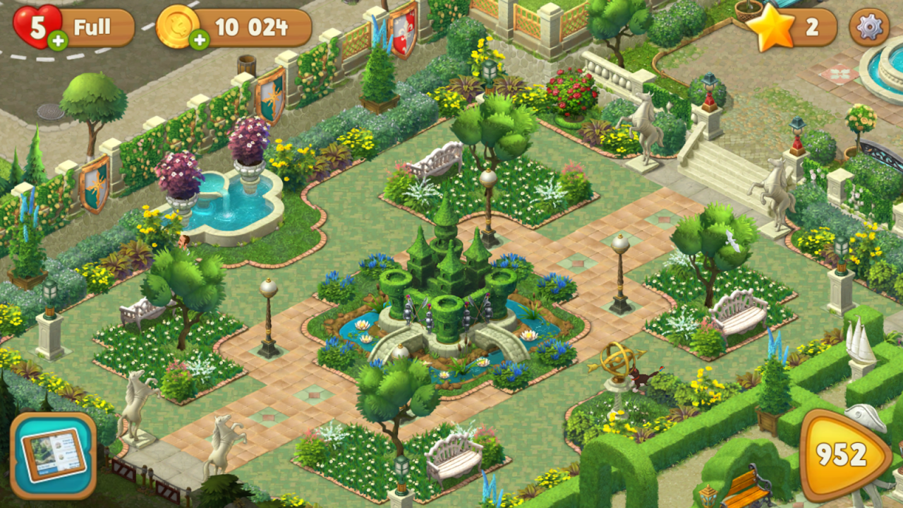 Android Gardenscapes Screen 1