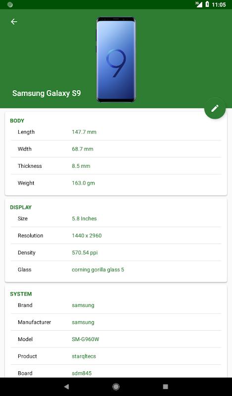 CPU X : Device & System info 2.8.1 Screen 4