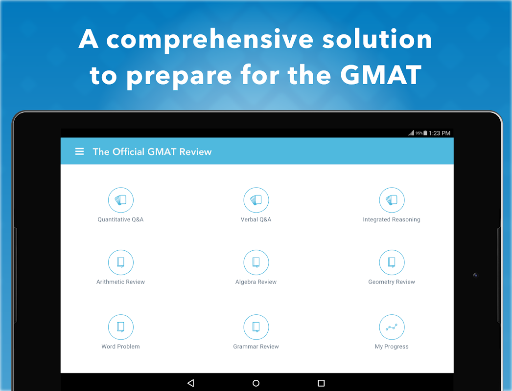 Android Official Guide for GMAT Review Screen 5
