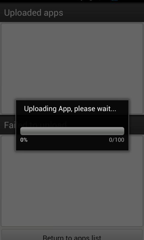 AptoideUploader 0.99 Screen 3