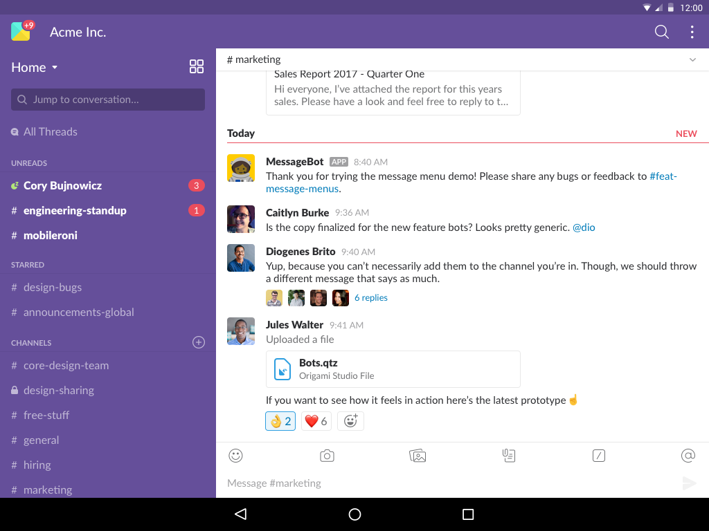 Slack 2.47.1 Screen 5