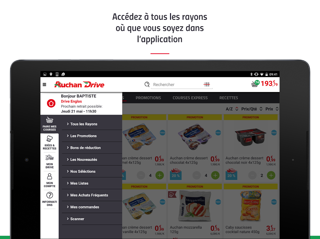 Android AuchanDrive - courses drive Screen 9