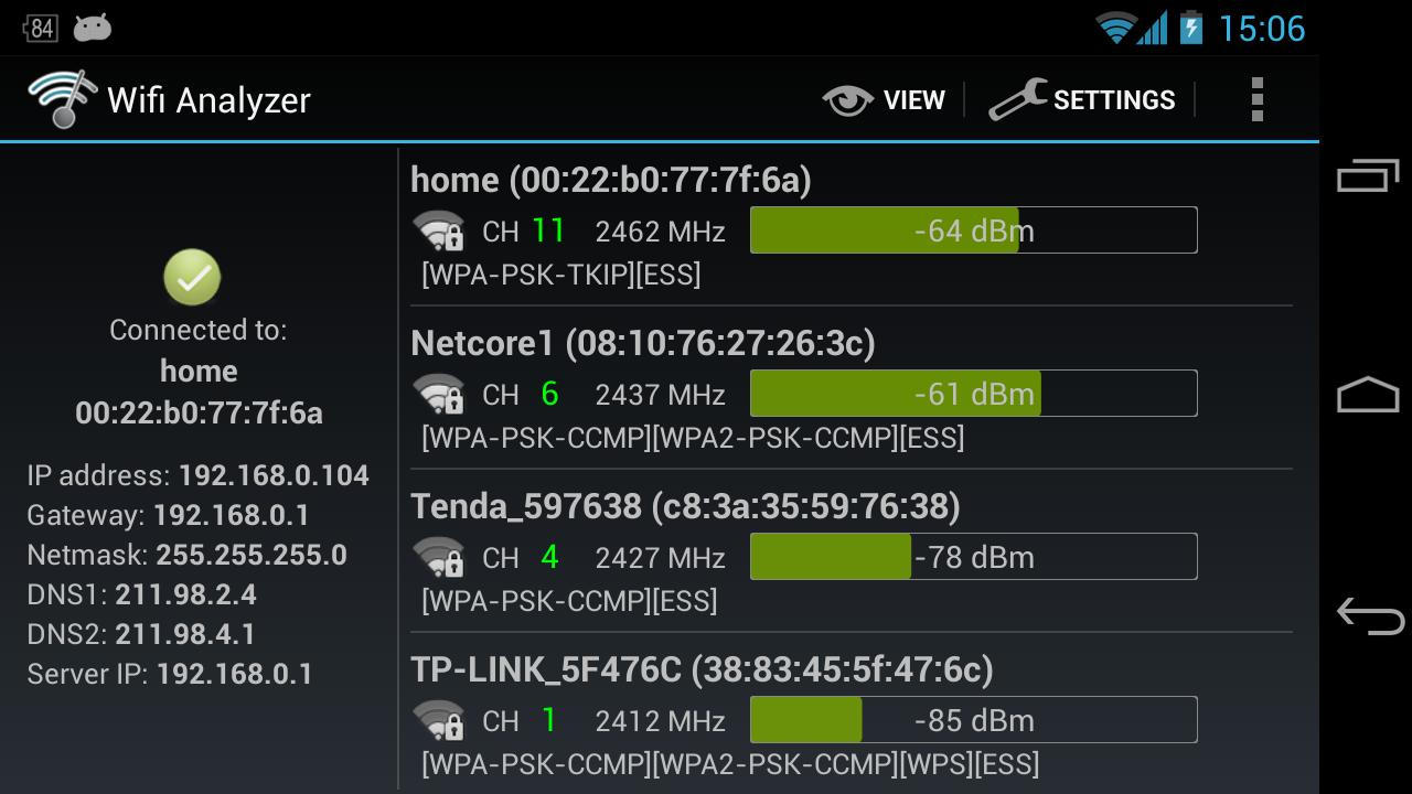 Wifi Analyzer 3.1.2 Screen 4