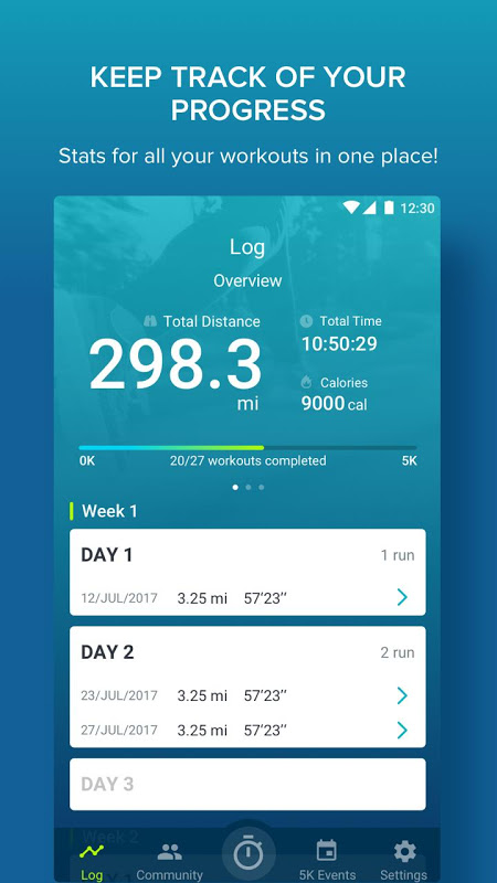 Couch to 5K® 4.3.0.73 Screen 2