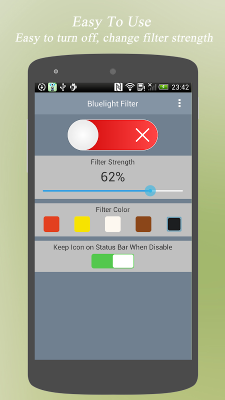 Android Bluelight Filter - Eye Care Screen 3