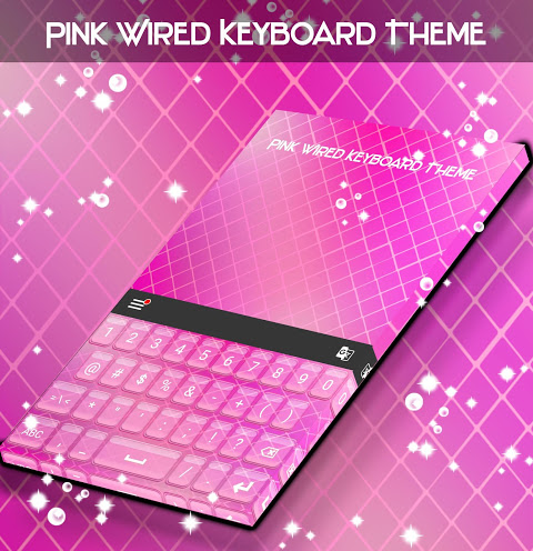 Android Pink Wired Keyboard Theme Screen 4