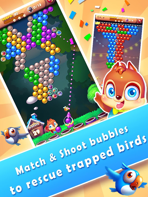 Android Bubble Bird Rescue 2 - Shoot! Screen 4