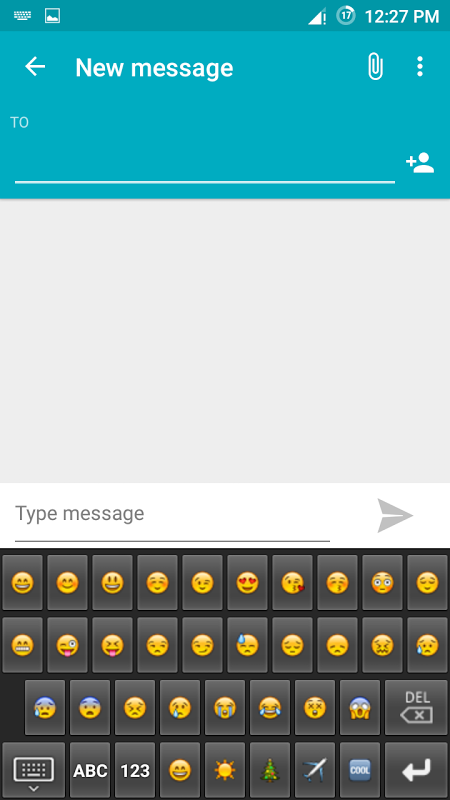 Android Emoji Keyboard Screen 2