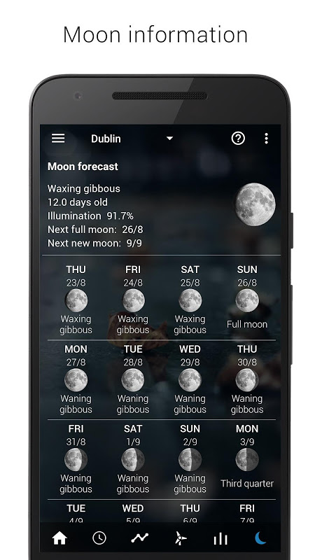 Android Transparent clock weather Premium Screen 18
