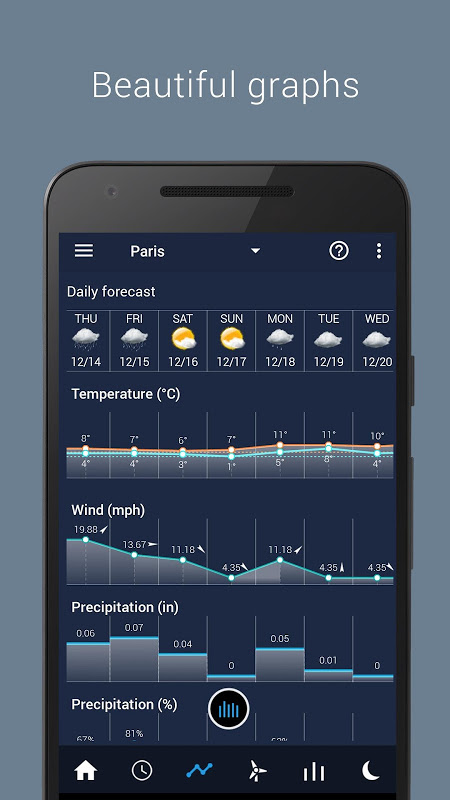 Android Transparent clock weather Pro Screen 9