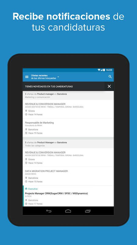 Android InfoJobs - Job Search Screen 13
