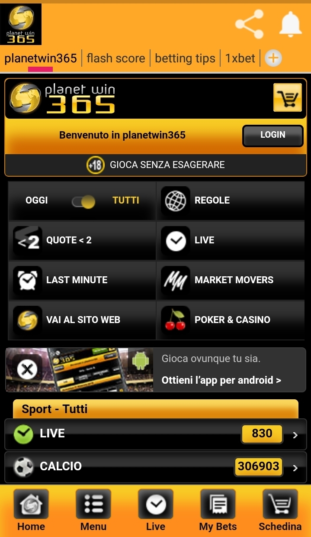 app planetwin 365