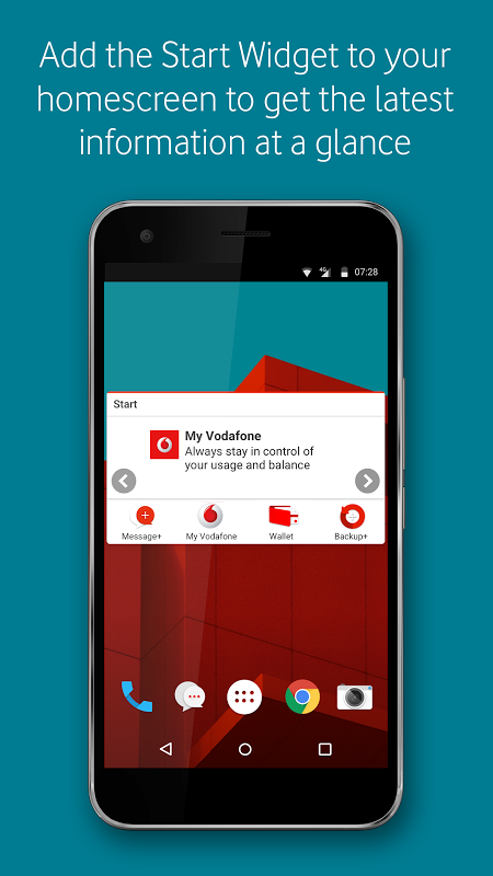 Vodafone Start 7.2.1 Screen 3