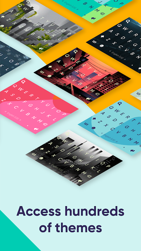 Android Fleksy: Fast Keyboard + Stickers, GIFs & Emojis Screen 4