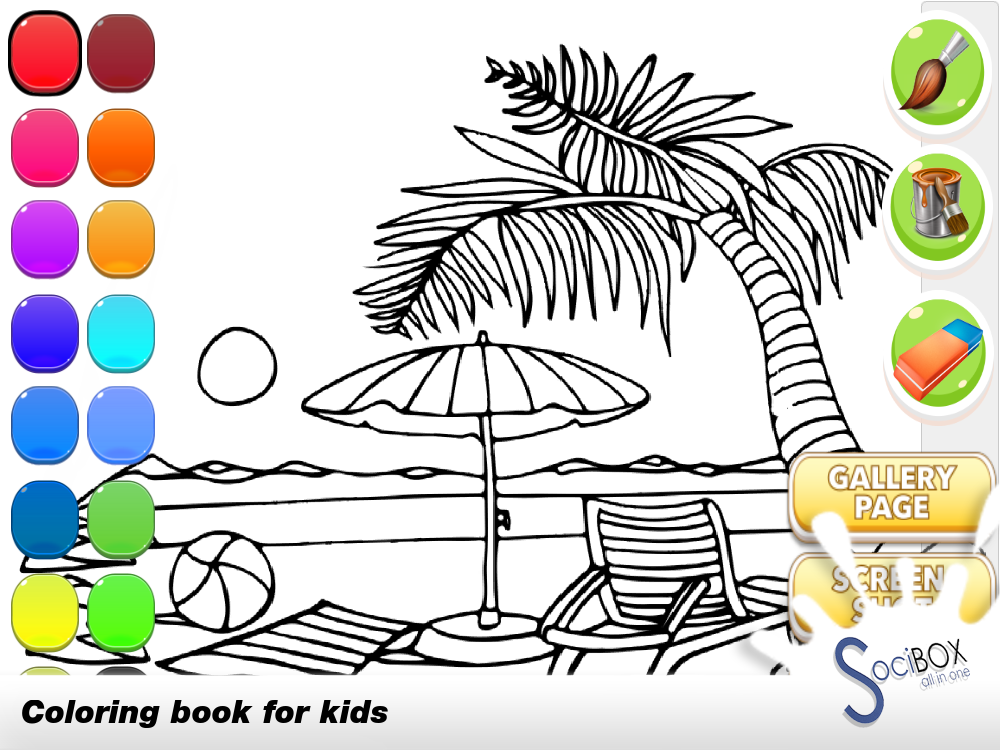 Android sea view coloring book Screen 3
