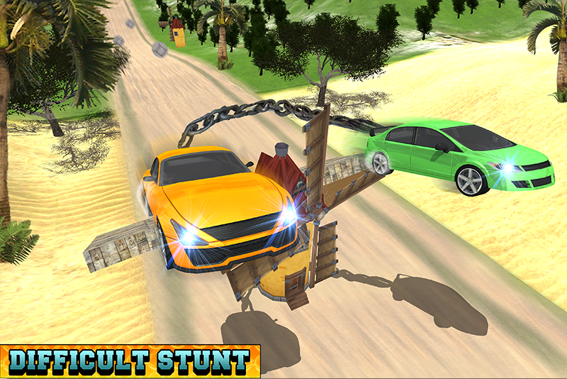 Android Chained Cars Racing Stunts Screen 1