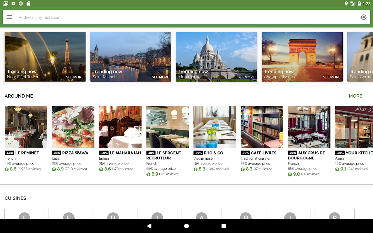 Android TheFork - Restaurants booking and special offers Screen 10
