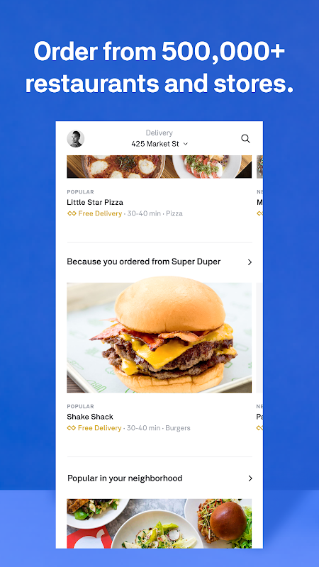Postmates - Local Restaurant Delivery & Takeout 5.3.7 Screen 6