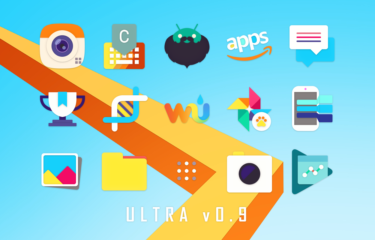 Android Ultra Icon Pack Screen 1