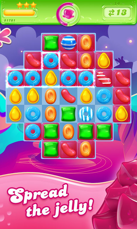 Android Candy Crush Jelly Saga Screen 1