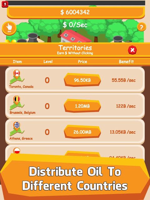 Android Oil Tycoon - Idle Clicker Game Screen 1